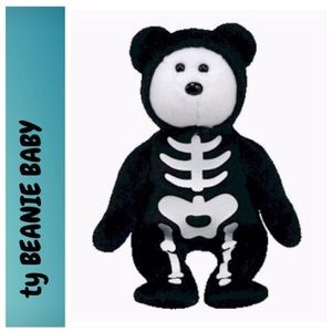 Bones Skeleton Bear Beanie Baby by Ty